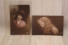Lot de 2 cartes postales - Portrait femme 14