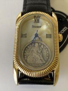 Vintage Stauer 1856 Liberty Dime Mens Watch