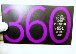 Polaroid 360 Land  Camera  instructions Guide Manual English