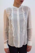 Maglie e camicie da donna maniche a 3/4 neri in seta