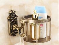 Antique Brass Toilet Paper Holder / Basket Wall Mounted Roll Paper Towel Holder