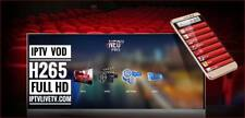 NEO TV PRO2 oxy iptv  promotion H.265, 12 months code  Smart TV,android box