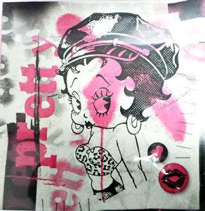 Betty Boop - Biker Betty Wall Canvas/Art - embossed Wall Art (24056)
