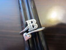 "925 Sterling Silver Signed VTG Unique ""B"" & Heart Wrap Ring SZ 6,5=2gr"