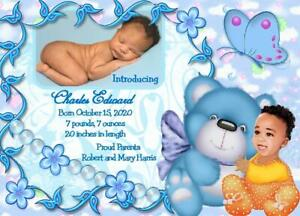 15 Personalized African American Baby Boy Birth Announcement Cards