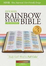 Holman NIV Rainbow Study Bible; 2016; Indexed; Maroon Leather Touch