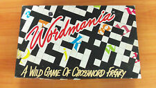 1990 Board Game - Wordmania - A Wild Game of Crossword Fenzy