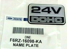 Ford Taurus Mercury Sable 24V DOHC passenger front fender silver Emblem OEM