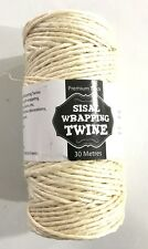 4x 30 Meters Premium Sisal Wrapping Twine Cream Colour String Craft Wedding Part