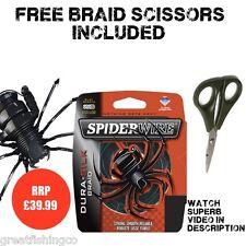Braid Fishing Line Spiderwire Silk Green Braid 300m Plus Braid Scissors 30lb