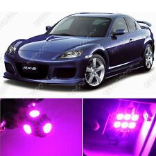 10 x Premium Hot Pink LED Lights Interior Package Kit for Mazda RX-8