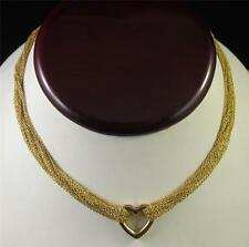 TIFFANY Co Mesh Heart Necklace Multi Chain 18kt Yellow Gold Tiffany & Co