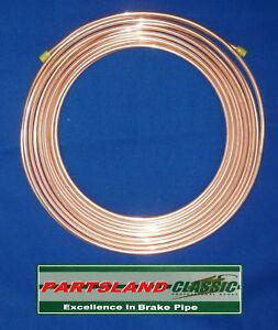 BS EN 12449 Copper Nickel Kunifer Brake & Clutch Pipe 8mm x 25ft-7.62 Mt. Reel