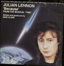 "JULIAN LENNON BECAUSE FROM THE MUSICAL TIME BY DAVE CLARK 1985 ITALY 7"" 45 GIRI"