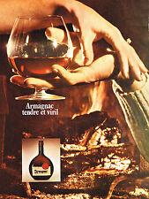 PUBLICITE  1971   ARMAGNAC  tendre & viril