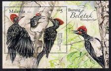 2013 MALAYSIA WOODPECKER BIRDS (M/S) MNH