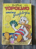 Walt Disney Topolino Italian Comic Book 1337 GRAFOLOGIA 1981