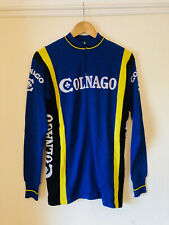 Classic Colnago Wool Cycling Jersey, 1980s, Long Sleeve, Med/Large, Size 4