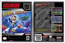 Mega Man X 1 - Super Nintendo SNES Custom Case *NO GAME*