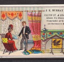 Antique Murray Furniture Store Brooklyn E.D. New York City Victorian Trade Card