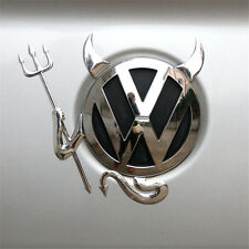 AUTO AUFKLEBER STICKER 3D Teufel VW Devil Demon Chrom Emblem BMW Skoda Opel
