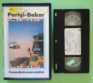 VHS Film Ita Sportivo PARIGI-DAKAR Rally Eleven ex nolo no dvd cd lp mc (V175)