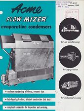 VINTAGE CATALOG #2919 - 1968 ACME FLOW MIZER EVAPORATIVE CONDENSERS