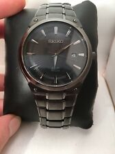 Seiko Men's SNE325 Dress Solar Analog Display Japanese Quartz Black Watch-H58