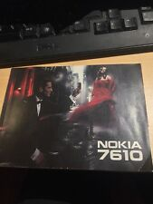 Nokia 7610 Manual Only ****NO PHONE****
