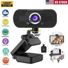 New listing Us 360° 1080P Full Hd Usb Webcam Pc Laptop Camera W/ Hole For Tripod Live Video