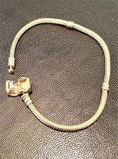 "Authentic Pandora Solid 14k Yellow Gold Moments Charm Bracelet. 7.5"" 19 cm 16.4g"