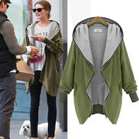 Women Winter Oversize Zip Up Hoodie Long Sleeve Trench Jacket Coat Parka Outwear