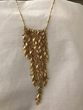 Nugaard Long Multistrand Leaves Chain Necklace Gold RI 2 Leaf