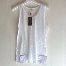 Zimmerli 252 Royal Classic NS White 100% Cotton Men's Tank Shirt - Size Medium