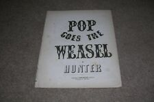 c.1854 Sheet Music Pop Goes the Weasel by Hunter