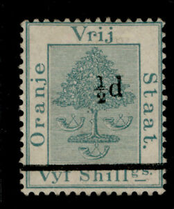 SOUTH AFRICA - Orange Free State QV SG36, 1d on 5s green, UNUSED. Cat £25.
