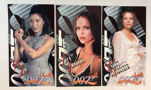 """THE WOMEN OF JAMES BOND (Inkworks/1998) Complete """"BONDS BEST"""" Chase Card Set"""