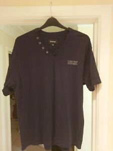 Mens Firetrap T-Shirt Size XL Black V-Neck SEE DESCRIPTION