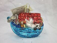 Merck Family's Old World Christmas Glass Ornament Nwt Noah's Ark Biblical Story