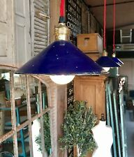 Rustic vintage French Enamel Lights