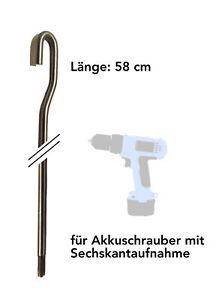 Markisenkurbel kurz für Akkuschrauber — elektrisch elektromechanisch Markise
