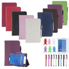 """Pelle Custodia Stand Case Cover 7"""" Per Samsung Galaxy Tab 3 Tablet da 7 pollici"""