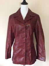 Horse Leather Fitted Reddish Brown Vera Pelle Jacket Handmade in Italy Women's M