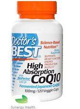 Doctor's Best, High Absorption CoQ10, 120 V Caps UK Freepost SYNERGY
