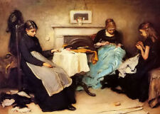 """New listing Dream-art hand painted Oil painting frank holl - the song of the shirt women 36"""""""