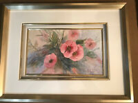 "Bertha Stupak ""Still Life With Flowers Scene"" Watercolor Painting -Signed/Framed"