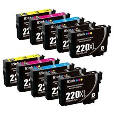 10P for 220XL High Yield Black & Color Ink Cartridge fit Epson WorkForce WF-2750