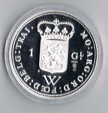 1 ounce ZILVEREN 1 gulden 1794 REPLICA  .925 zilver PROOF capsule + certificaat