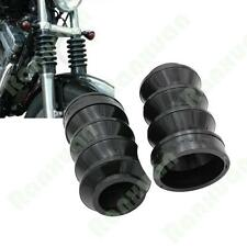 2pcs 49mm Rubber Front Fork Cover Gaiters Gators Boots For Harley FXDWG Black