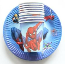 Party :  Paper Plate Cups Set Spider Man  Party Needs 10 pcs